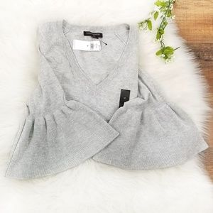 Banana Republic Factory Gray Bell Sleeve Sweater
